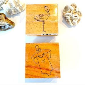 Lot of two Rubber stamps